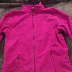 Pink Champion zip-up fleece